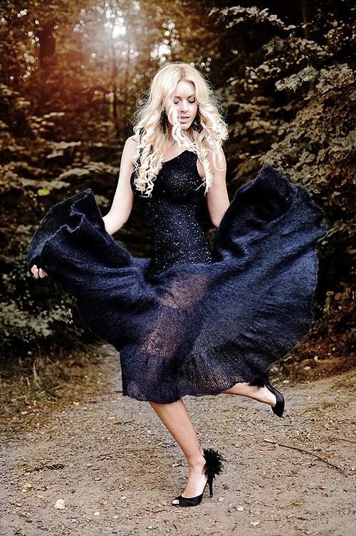 Popis - návod na pletené šaty As deep as your love