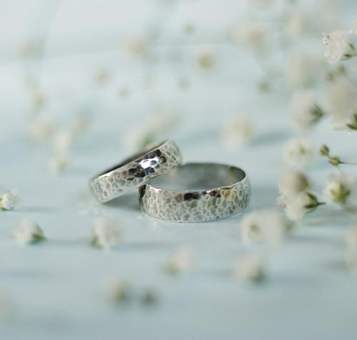 Dva snubní prsteny (stříbro 925/1000)