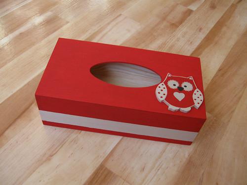 Krabička na kapesníky se sovičkou