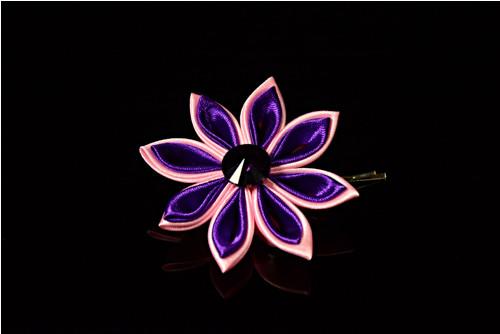 Kanzashi Sponečka Růžovo - fialová