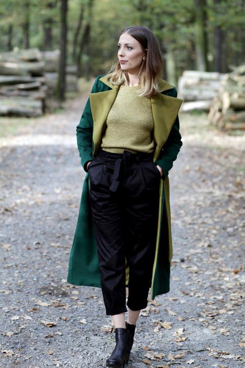 Kabát Green cashmere