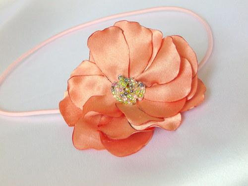 Čelenka s meruňkovým květem.