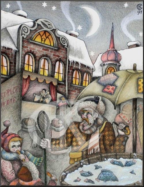 """Obrázek \""""Vánoční trh\"""""""