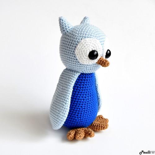 Modrá sovička  (18 cm) - na objednávku