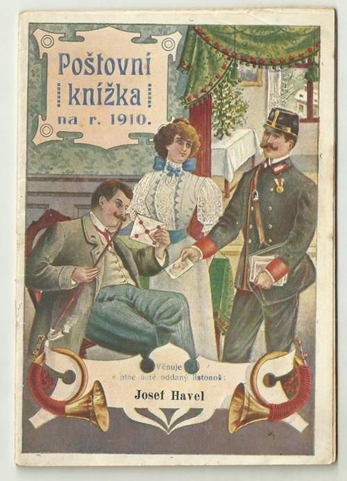 Poštovní knížka 1910
