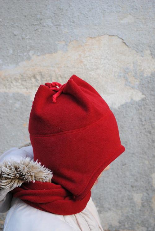 Dětská čepice, červená 1,5-2,5 let