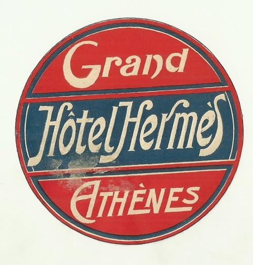 Hotelové nálepky Hotel Hermes Athenes