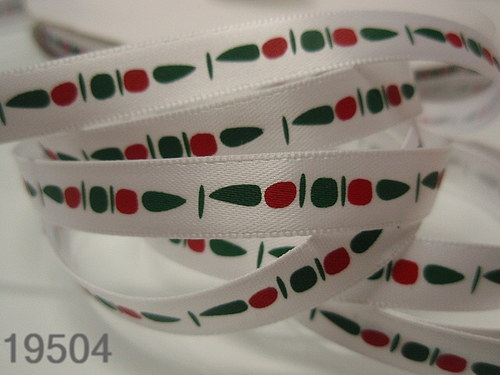 19504 Stuhy vánoční šišky na bílém II., bal. 3m