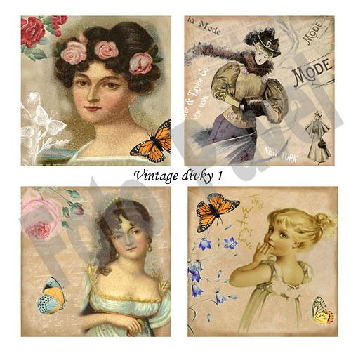 Vintage  motivy  - papírové