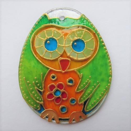 Sovička - malá Houkalka oranžovo zelená