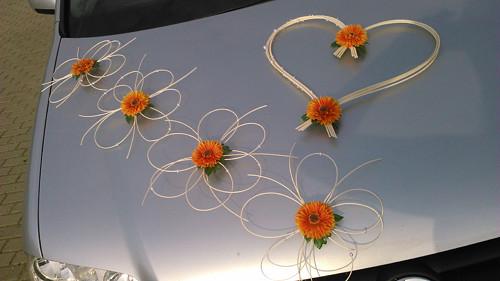 Svatební dekorace gerbery - barva na přání