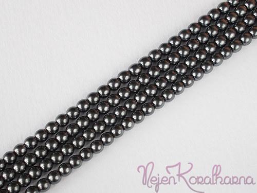 Voskové perle šedá 4mm