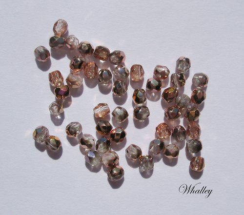 Korálky Ohňovky Crystal with Capri 3 mm 50ks