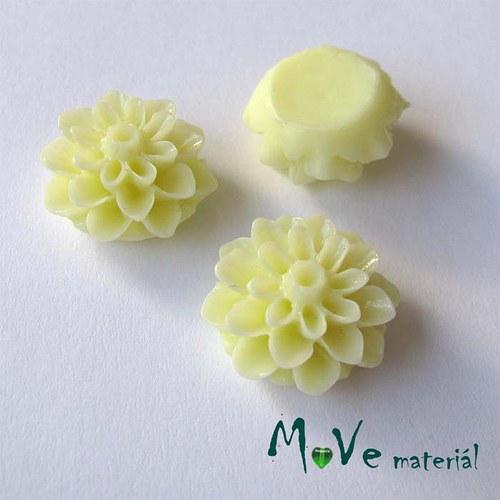 Kabošon květ lesklý A7 - resin - 2ks, sv. žlutý