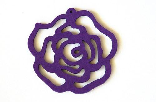 dřevěná růže- fialová