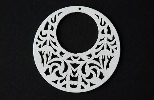 dřevěné kolečko- bílé