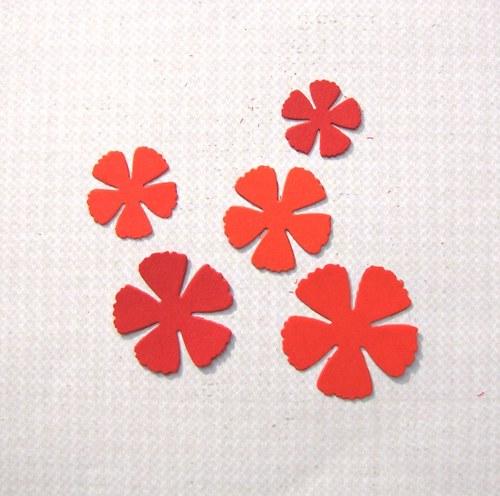 Květy zoubkované  - 5 ks