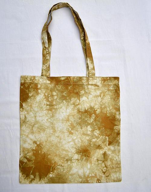Batikovaná taška béžovo-hnědozelená
