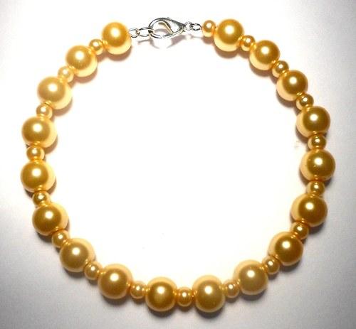 Perly - náramek žlutý