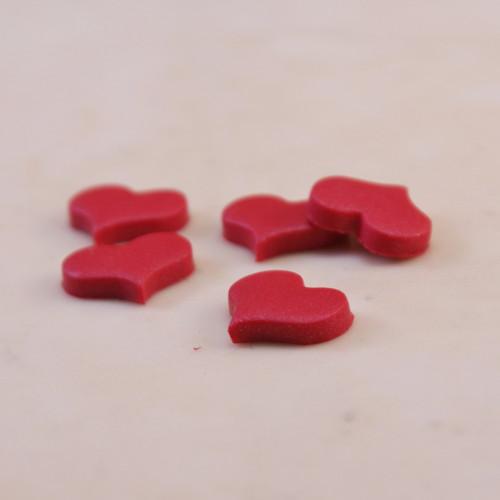 Červené mini ozdobičky srdíčka 5 ks/1 ks/10 ks