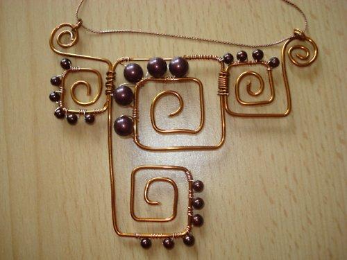 Měděný náhrdelník ,,Kréta,,  SLEVA
