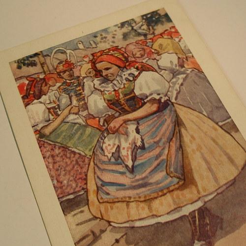 Joža Uprka Z KOSTELA - pohlednice č. 1151