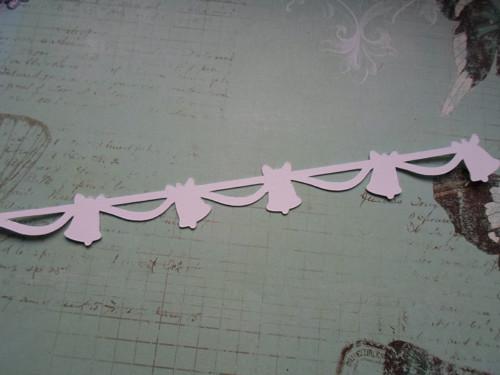 Ozdobná bordura - zvonečky - barva na výběr