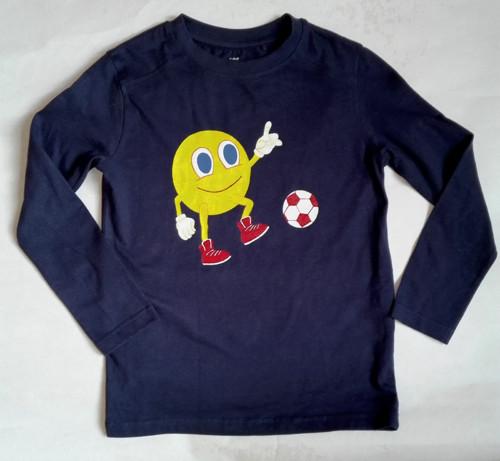 Smajlík futbalista - ručne maľované tričko