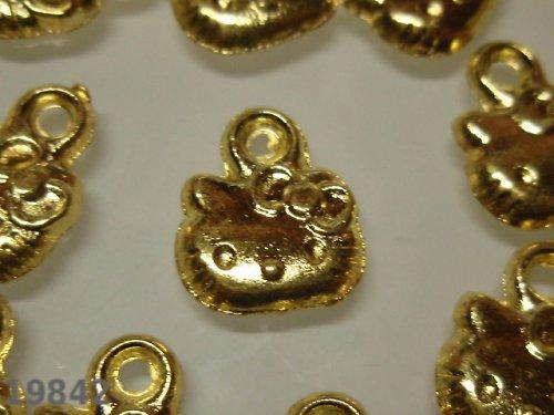 19842 Přívěšek Kitty hlava zlatý