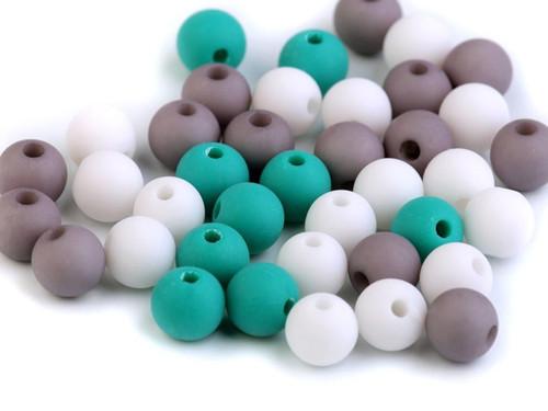 Plastové korálky 8mm - (30ks)