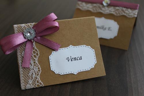 Svatební jmenovka na Váš stůl