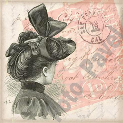 Vintage motiv - portrét dámy 3