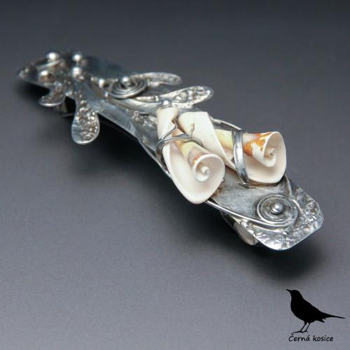 Květy moře (Mušle) - spona do vlasů