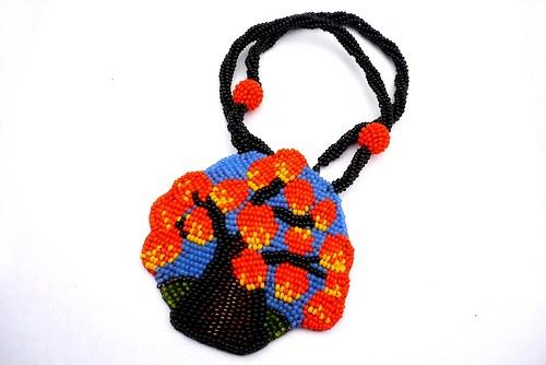 Podzim - náhrdelník