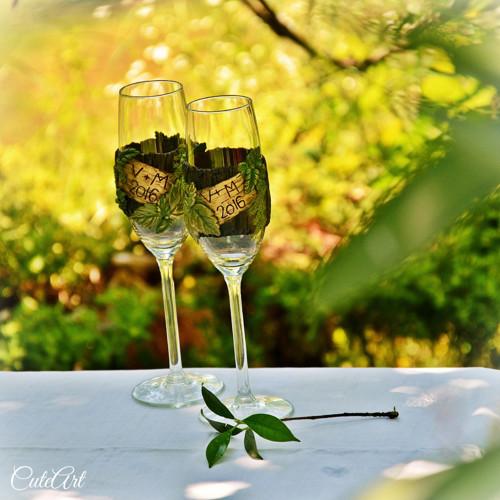 """Společná cesta \""""lesem\"""" - set svatebních poháru"""