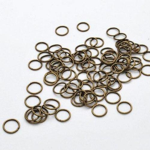 Spojovací kroužek 100 ks / 10 mm / antik bronz