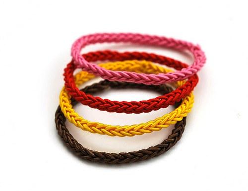 SET GUMIČIEK | Žlto-hnedo-čererveno-ružový