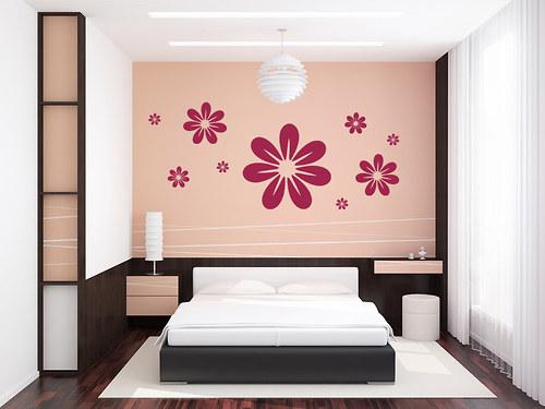 Květina 01 - samolepka na zeď