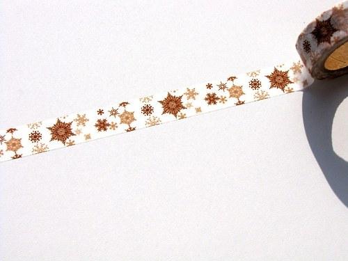 Páska: Béžovohnědé vločky (1,5 x 33 cm)