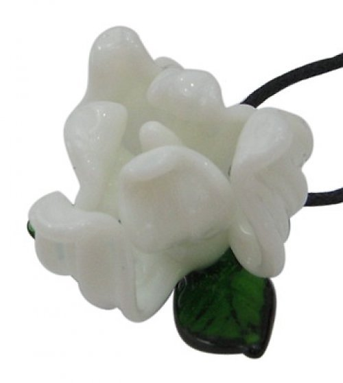0600209/Bílý vinutý květ, 1 ks