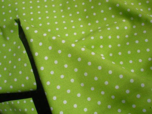 látka - metráž - zelený puntík