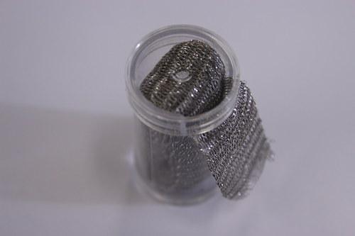 Drátěná dutinka 18-20mm, šedá/lesk - 1m