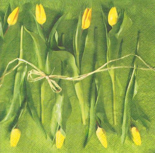 Ubrousek - žluté tulipány