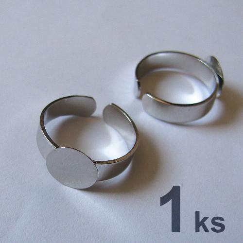 Základ na prsten s ploškou - 2.JAKOST - 3 ks