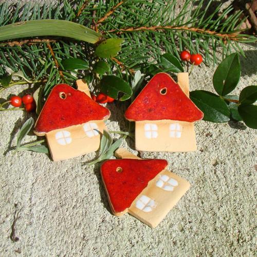 keramické ozdoby - domeček