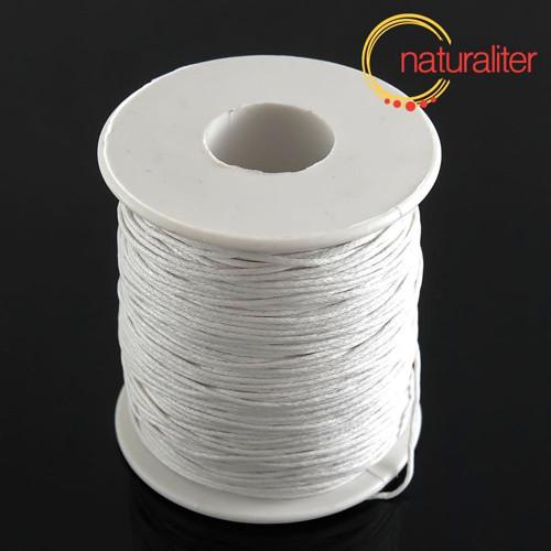 Voskovaná šňůra bílá bavlněná 1mm, 90 m