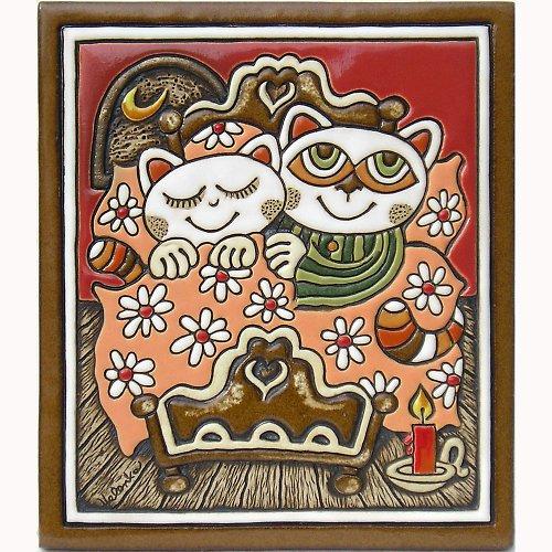 Keramický obrázek - Manželé K-135-CE-R