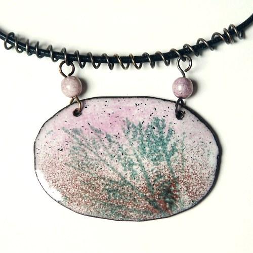 Podvečerní - smaltovaný náhrdelník