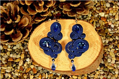 Sutaškové náušnice Blue