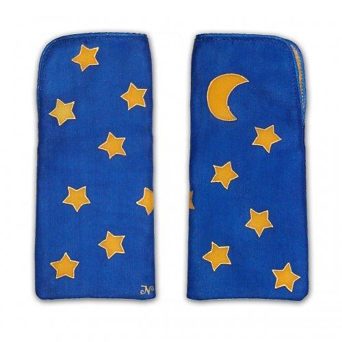 Tmavě modré pouzdro na brýle s hvězdičkami